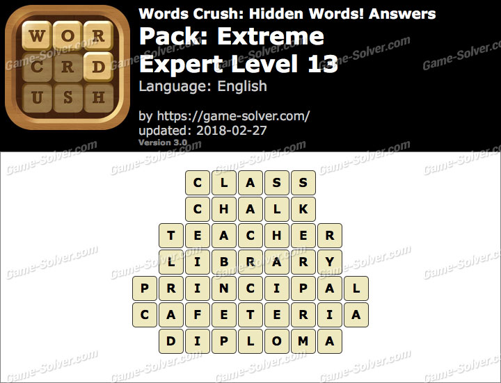 Words Crush Extreme-Expert Level 13 Answers