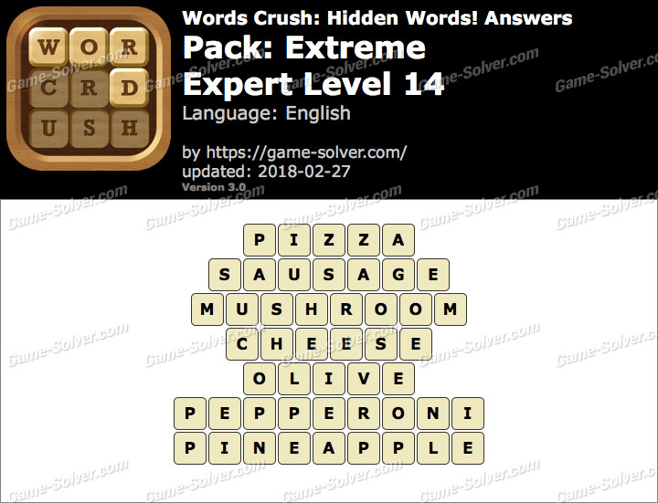 Words Crush Extreme-Expert Level 14 Answers