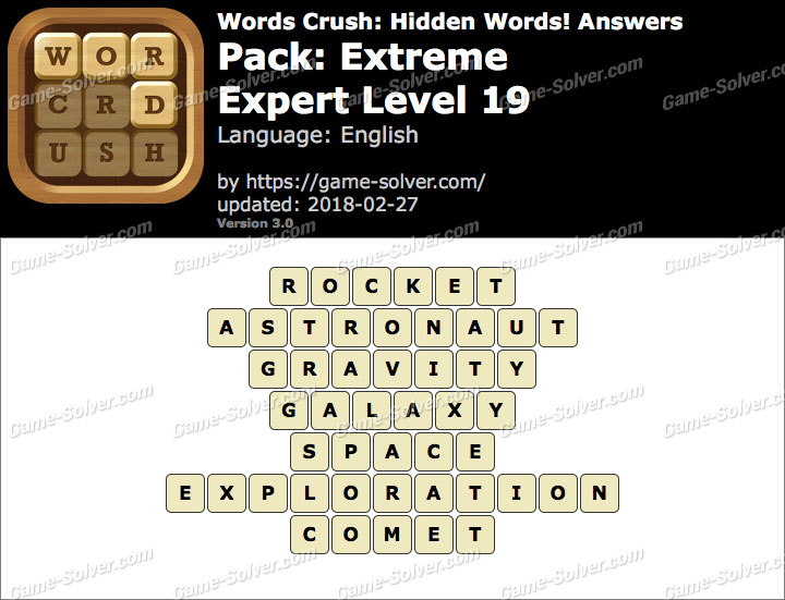 Words Crush Extreme-Expert Level 19 Answers