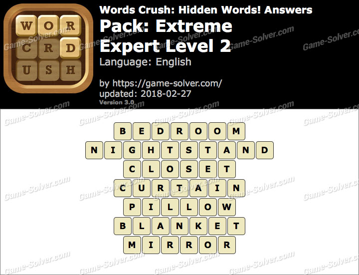 Words Crush Extreme-Expert Level 2 Answers