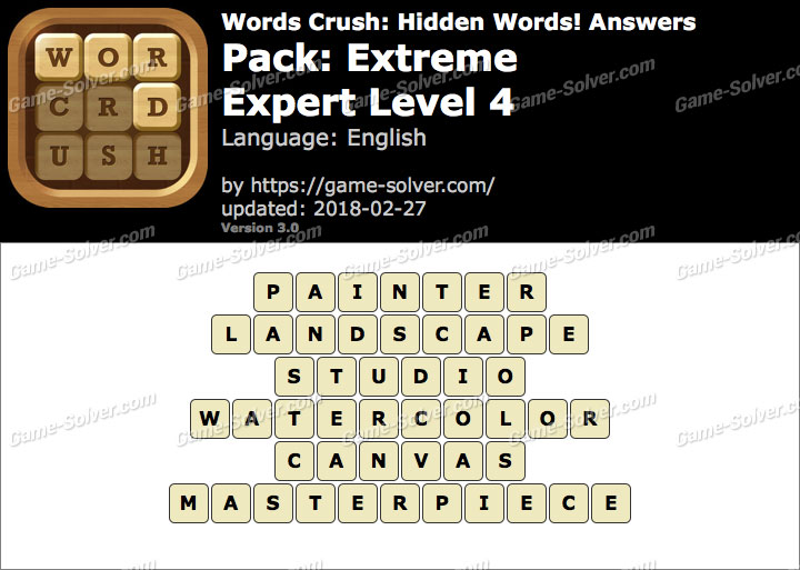 Words Crush Extreme-Expert Level 4 Answers