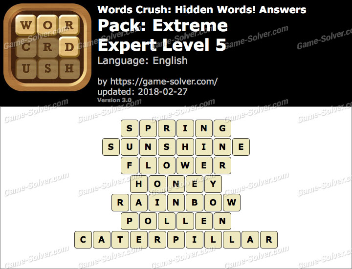 Words Crush Extreme-Expert Level 5 Answers