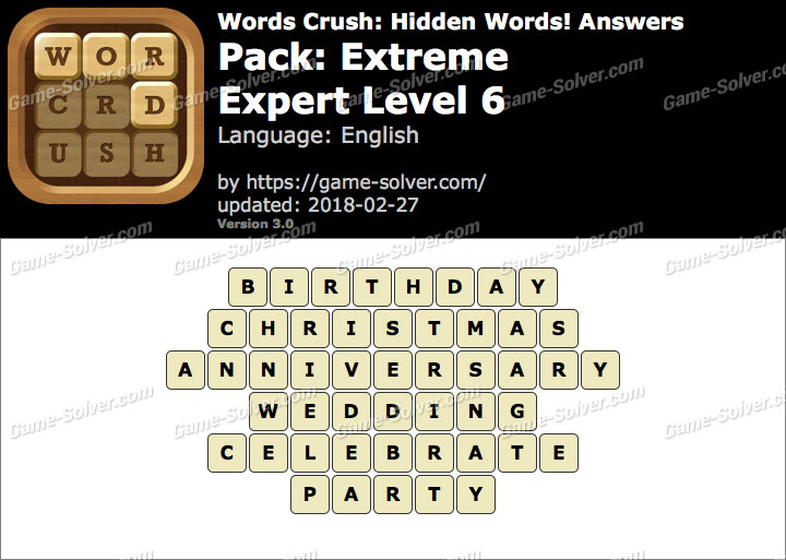 Words Crush Extreme-Expert Level 6 Answers