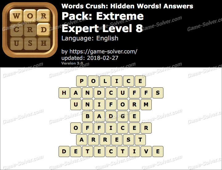 Words Crush Extreme-Expert Level 8 Answers