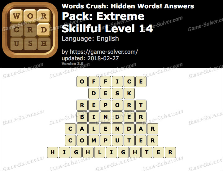Words Crush Extreme-Skillful Level 14 Answers