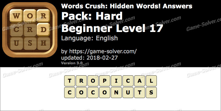 Words Crush Hard-Beginner Level 17 Answers