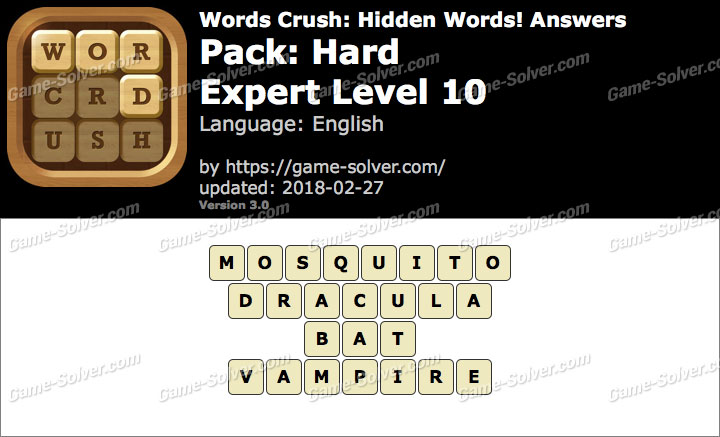 Words Crush Hard-Expert Level 10 Answers