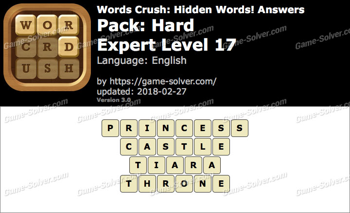 Words Crush Hard-Expert Level 17 Answers