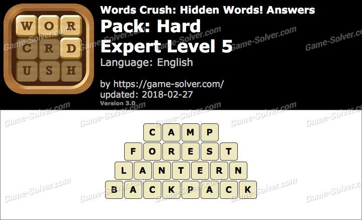 Words Crush Hard-Expert Level 5 Answers