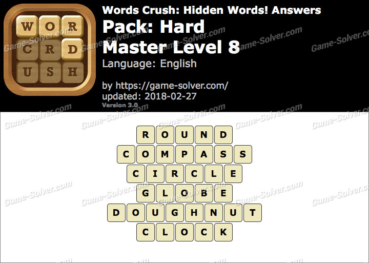 Words Crush Hard-Master Level 8 Answers