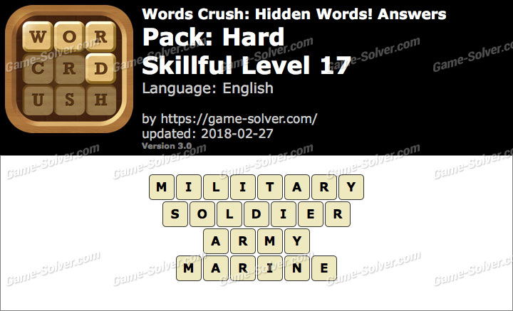 Words Crush Hard-Skillful Level 17 Answers