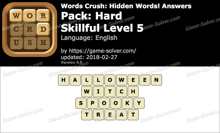 Words Crush Hard-Skillful Level 5 Answers