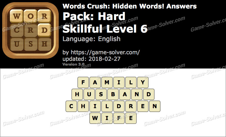 Words Crush Hard-Skillful Level 6 Answers
