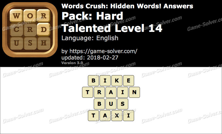 Words Crush Hard-Talented Level 14 Answers