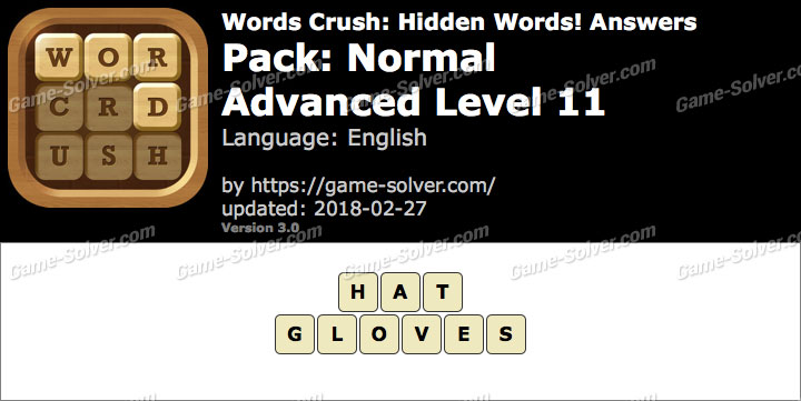 Words Crush Normal-Advanced Level 11 Answers
