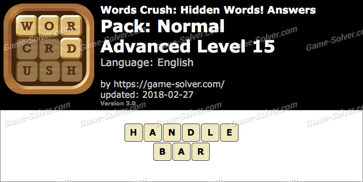 Words Crush Normal-Advanced Level 15 Answers