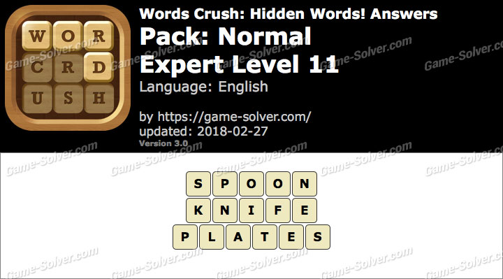 Words Crush Normal-Expert Level 11 Answers