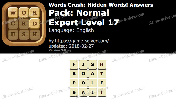 Words Crush Normal-Expert Level 17 Answers