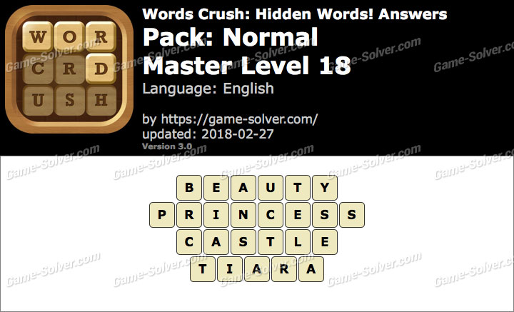 Words Crush Normal-Master Level 18 Answers