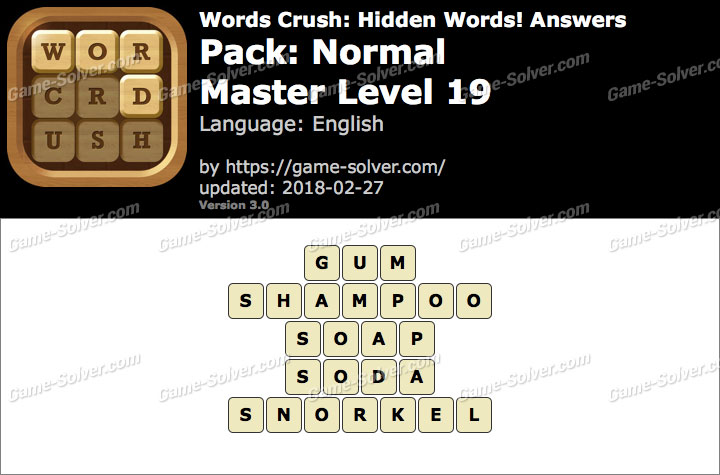 Words Crush Normal-Master Level 19 Answers