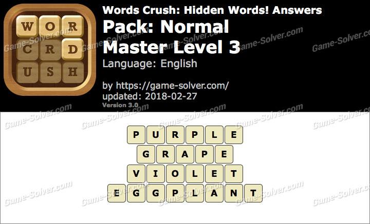 Words Crush Normal-Master Level 3 Answers