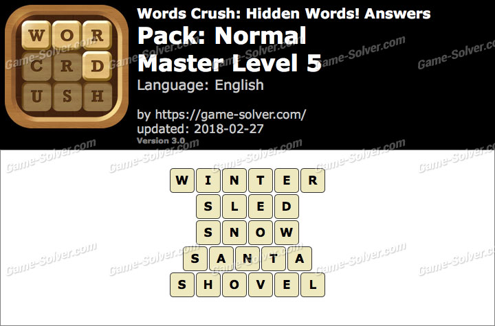 Words Crush Normal-Master Level 5 Answers