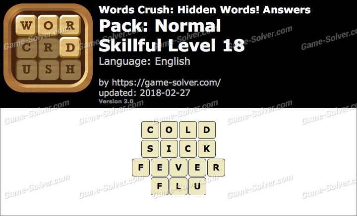 Words Crush Normal-Skillful Level 18 Answers