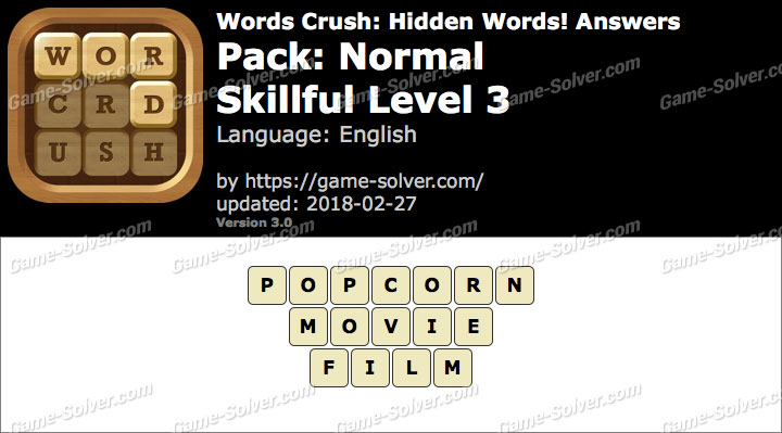 Words Crush Normal-Skillful Level 3 Answers