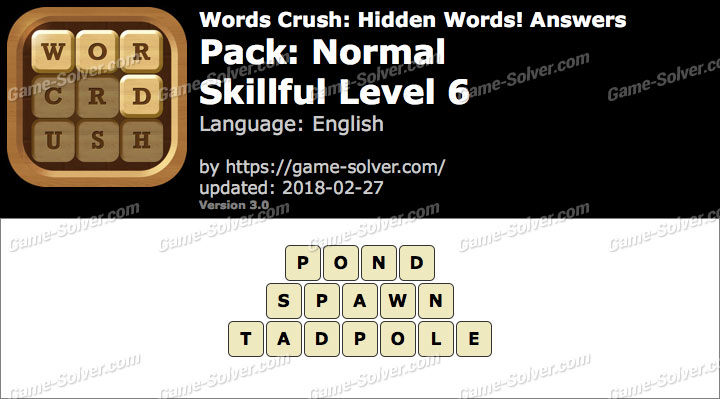 Words Crush Normal-Skillful Level 6 Answers
