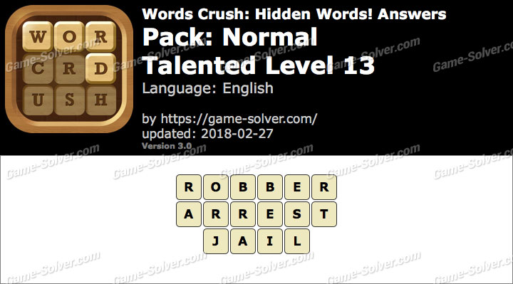Words Crush Normal-Talented Level 13 Answers
