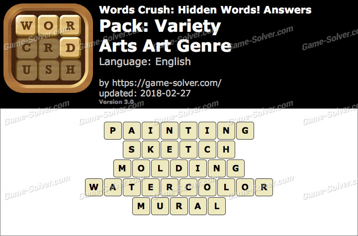 Words Crush Variety-Arts Art Genre Answers