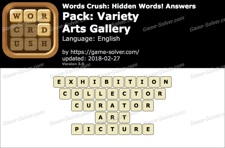 Words Crush Variety-Arts Gallery Answers