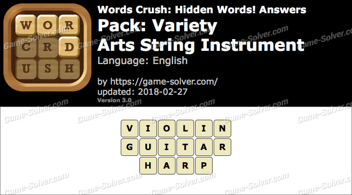 Words Crush Variety-Arts String Instrument Answers