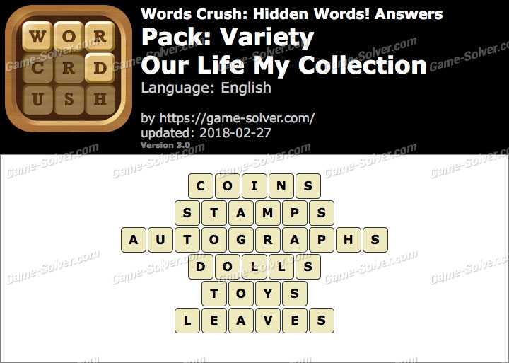 Words Crush Variety-Our Life My Collection Answers