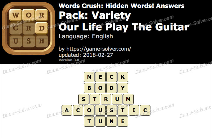 Words Crush Variety-Our Life Play The Guitar Answers