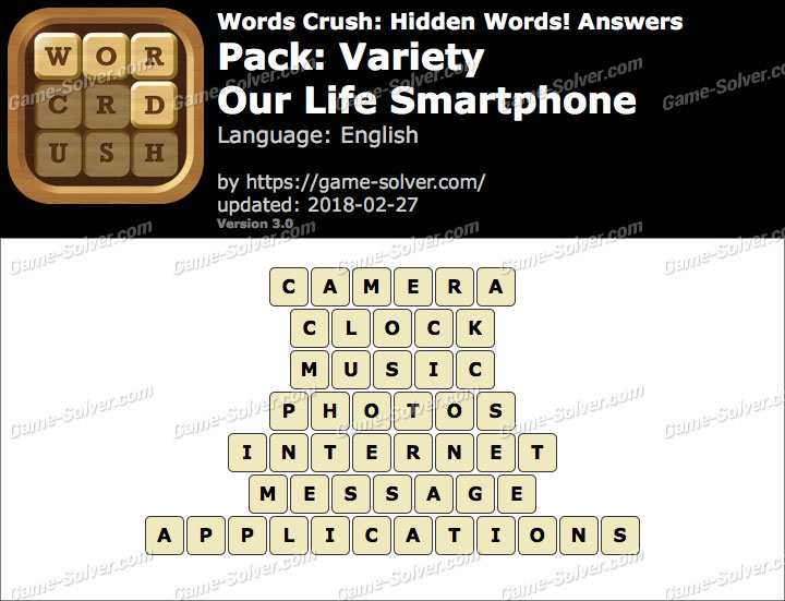 Words Crush Variety-Our Life Smartphone Answers