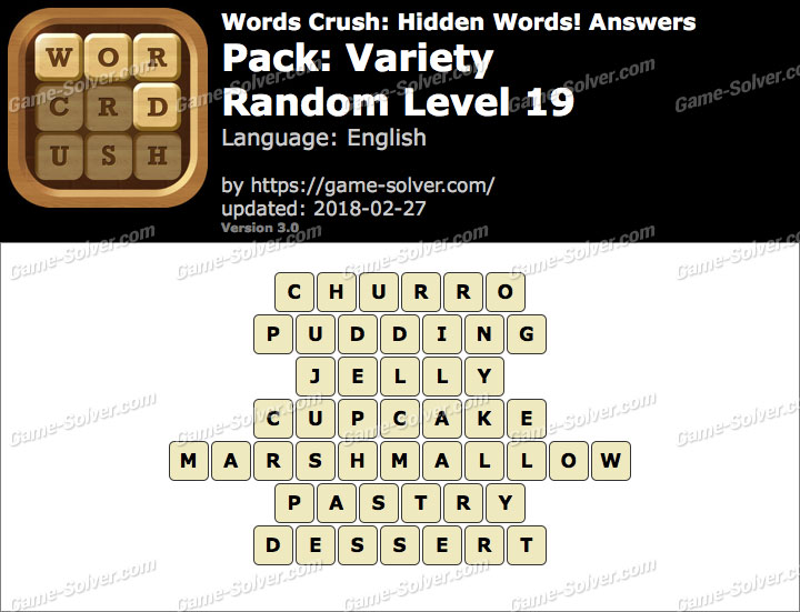 Words Crush Variety-Random Level 19 Answers