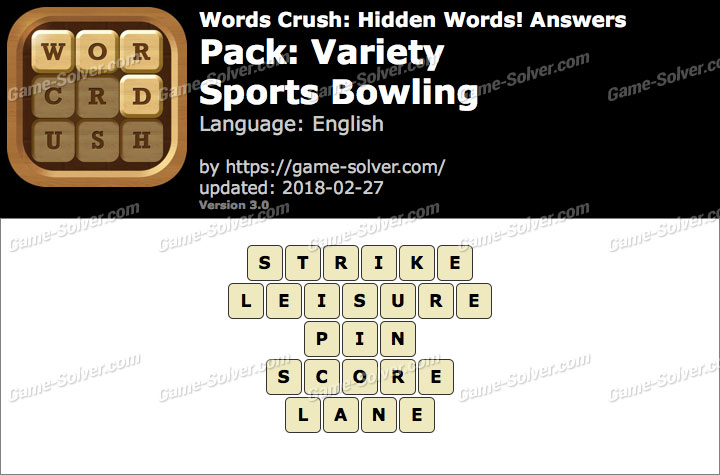 Words Crush Variety-Sports Bowling Answers