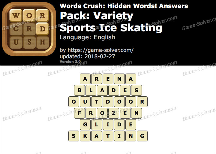 Words Crush Variety-Sports Ice Skating Answers