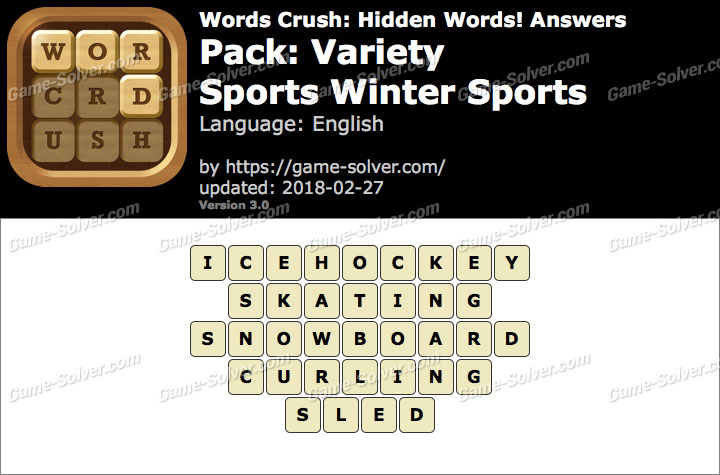 Words Crush Variety-Sports Winter Sports Answers