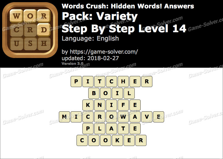 Words Crush Variety-Step By Step Level 14 Answers