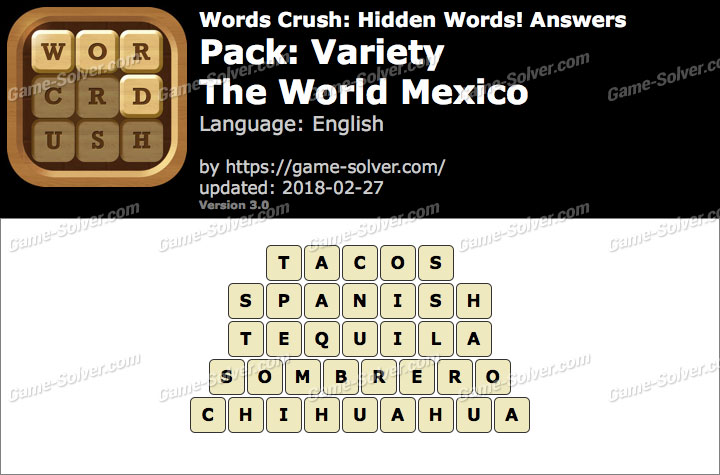 Words Crush Variety-The World Mexico Answers