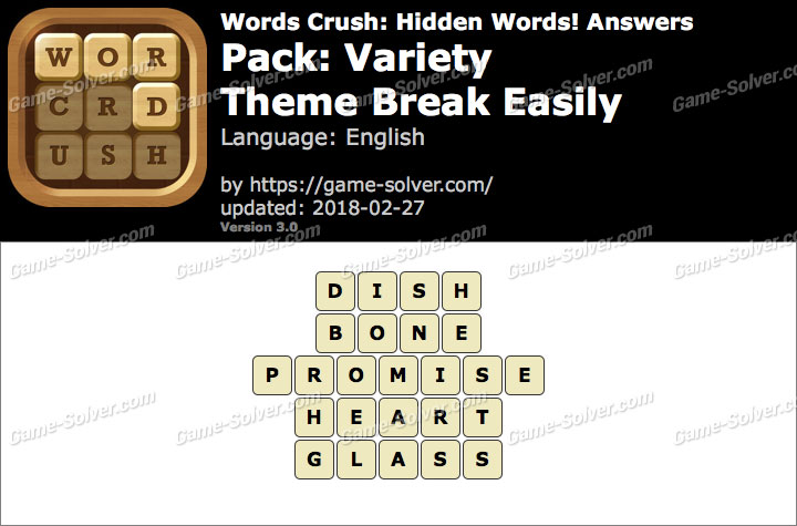 Words Crush Variety-Theme Break Easily Answers