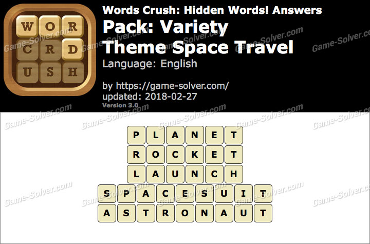 Words Crush Variety-Theme Space Travel Answers