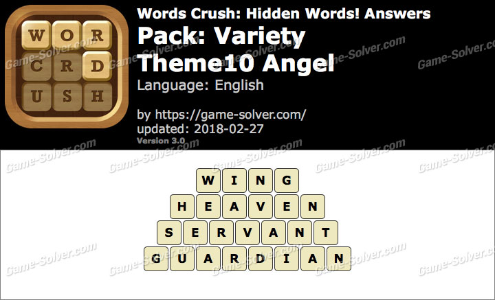 Words Crush Variety-Theme10 Angel Answers