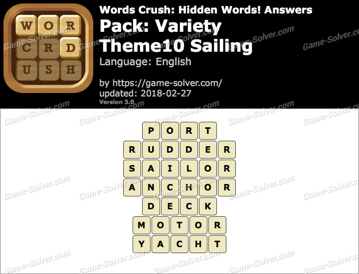 Words Crush Variety-Theme10 Sailing Answers