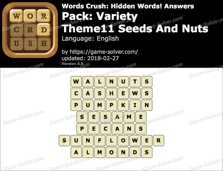 Words Crush Variety-Theme11 Seeds And Nuts Answers