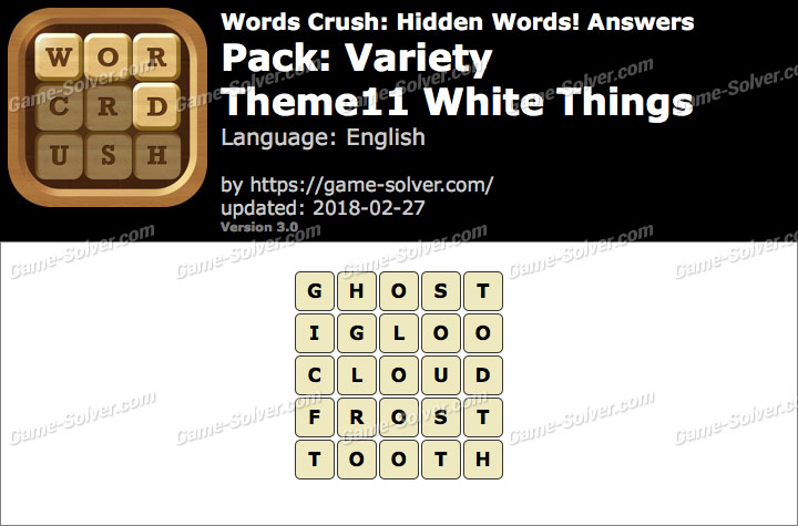 Words Crush Variety-Theme11 White Things Answers