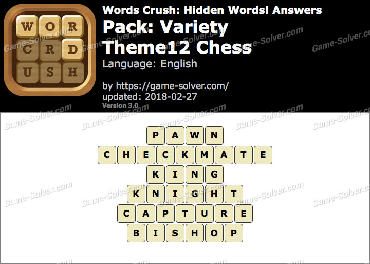 Words Crush Variety-Theme12 Chess Answers