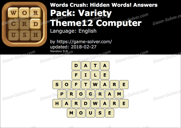 Words Crush Variety-Theme12 Computer Answers